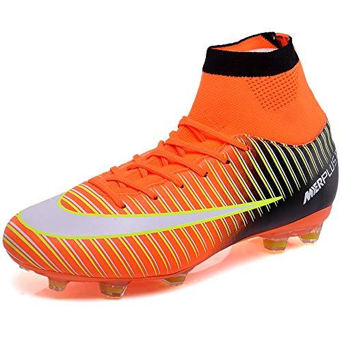 BOLOG Zapatos de Fútbol Hombre Spike Aire Libre Profesionales Atletismo Training Botas de Fútbol Ligero Tacos Futbol Zapatos de Deporte