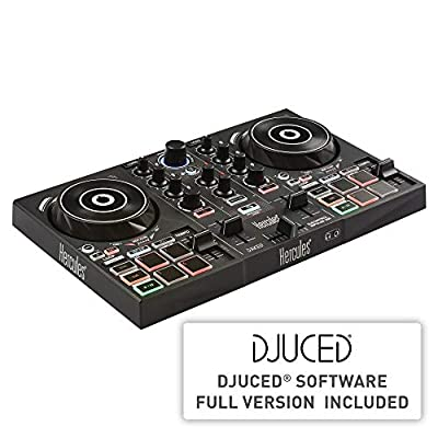 Hercules DJControl Inpulse 200 | Portable USB DJ Controller with Beatmatch Guide, DJ Academy and full DJ software DJUCED included by Hercules DJ