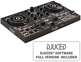 Hercules DJControl Inpulse 200   Portable USB DJ Controller with Beatmatch Guide, DJ Academy and full DJ software DJUCED included