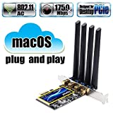 fenvi T919 for macOS PC PCI Wifi Card Continuity Handoff BCM94360CD Native Airport WiFi BT 4.0 1750Mbps 5GHz/2.4GHz MIMO 802.11ac Beamforming+ WLAN PCI-E Card mac OS Plug and Play Cataline Mojave OS X