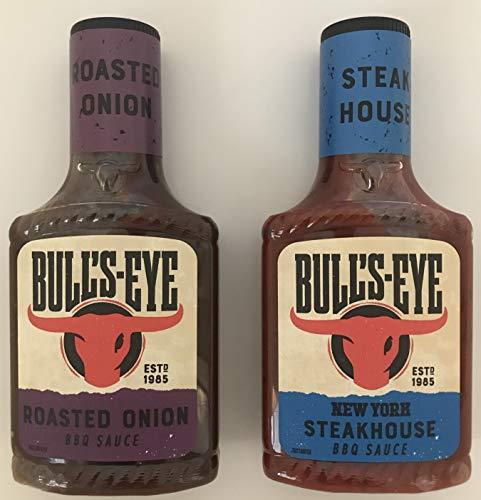 Bull's-Eye BBQ Sauce Multipack – 2 Geschmacksrichtungen – New York Steakhouse und geröstete Zwiebel (300 g) (2 Stück)