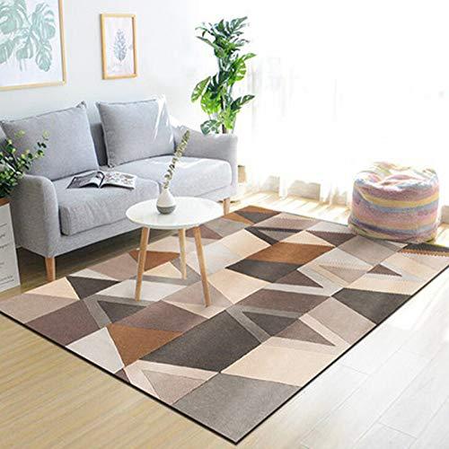 Michance Europäische Moderne Minimalistische Couchtisch Sofa Teppich Büro Bett Geometrische rutschfeste Dicke Matten Wohnzimmer Schlafzimmer Hotel Bed & Breakfast Teppich