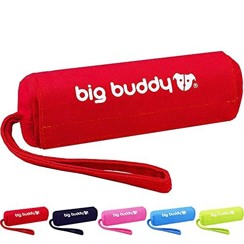 big buddy Canvas Futterdummy, Futterbeutel für Hunde, Apportierdummy zur Hundeerziehung (Rot)