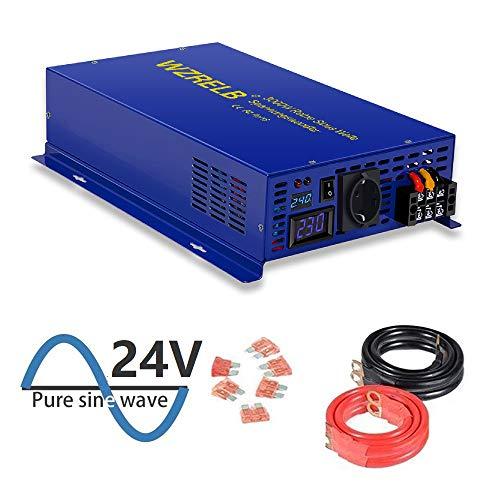 3000W DC 24V auf 230V Reiner Sinus Welle Spannungswandler Wechselrichter Stromwandler 12 auf 230 Inverter für Wohnmobile, Autos, Camping, Reisen