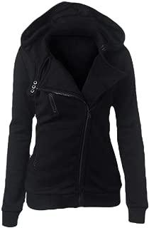 Mogogo Women's Fall Winter Hooded Pullover Zipper Windproof Parka Outwear
