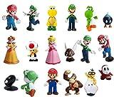 Figuras Super Mario Figures Decoración para Tartas de Cumpleaños 18PCS