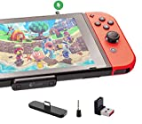 Gulikit Bluetooth Adapter for Nintendo Switch & Lite PS4 PS5 PC,Support in-Game Voice Chat, APTX Low Latency Wireless Transmitter with A/B Dual Paring for Airpods Bluetooth Speaker Headphones - Black