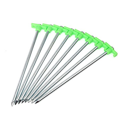 AmandaJ Tent Nail Stake Peg &Stainless Steel Luminous Tent Pegs Sand Hiking Outdoor Camping Tools Accessories