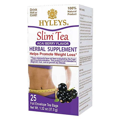 Hyleys Slim 交換無料 Tea Acai Berry Flavor Weight Herbal - Loss Supplemen 現金特価