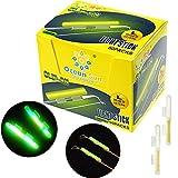 THKFISH Fishing Glow Sticks Rod Tip Glow Sticks Fishing Rod Floats Glow Stick Fishing Rod Night Fishing Light Fishing Green Fluorescent Light 100pcs(50bags) #L