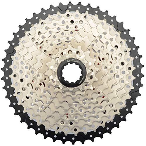 Lanxuanr Cassette de vélo de montagne à 10 vitesses pour VTT, vélo de route, super léger (11-46T)
