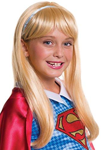 Rubie's Costume Girls DC Super Hero Supergirl Wig