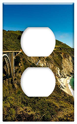 Switch Plate Outlet Cover - Pacific Coast Highway Travel Sea Ocean Bridge
