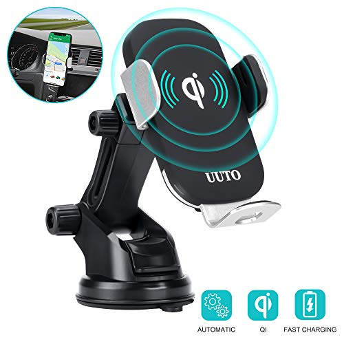 Wireless Car Charger, 10W Auto-Clamping Qi Fast Charging Car Mount Dashboard Air Vent Phone Holder for iPhone SE/11/11 Pro/11 Pro Max/XS Max/Xs MAX/XS/XR/X/8/8+, Samsung S10/S10+/S9/S9+/S8/S8+