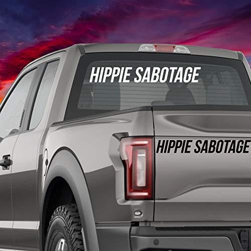 Cellycasy Hippie Sabotage Auto-Aufkleber aus Vinyl Hippie Jam Band Mac Laptop Bumper Aufkleber Handy Fenster