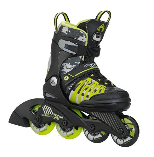 K2 Kinder Inline Skate SK8 Hero X Pro, schwarz/giftgrün, S, 3050208.1.1