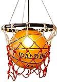 Basketball Plafonnier à LED avec pendentif en verre, abat-jour en verre avec cerceau de basket-ball pour suspension de chambre à coucher