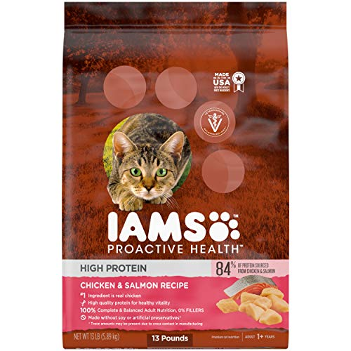 IAMS PROACTIVE HEALTH High Protein Adult Dry Cat Food with...