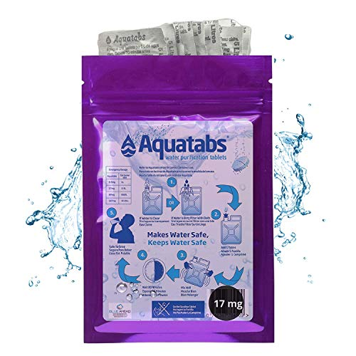 Aquatabs NaDCC 17 MG x 100 World's #1 Water Purification Treatment Tablets 1 Tablet = 2-5 litre (1 Pack, 17 MG)