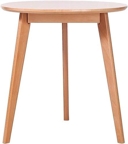 NAN Table Basse Table Ronde Table Moderne Table Basse Occasionnelle Balcon et Table de Salon (Couleur   Couleur du Bois, Taille   80cm)