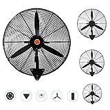 WXZX Ventilador De Pared Industrial Ventilador,con 3 Aspas Velocidad del Viento Ajustable Alto Volumen De Aire Fan Silencioso,Restaurantes, Fábricas, Almacenes. Ventilador Potent
