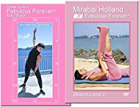 Senior Arthritis Prevention Stretch Workout 2 DVD Set by Mirabai Holland Fabulous Forever Yoga, Dance Stretch DVDs