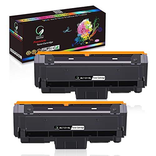 Gootior Toner Compatibile per Samsung MLT-D116L D116S, 3000 Pagine, Alta Capacità Compatibile con Samsung Xpress SL M2625 M2625D M2626 M2675 M2675F M2675FN M2676 M2825 M2825DW M2826 M2875FW, 2 Nero