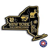 New York State Map Magnet