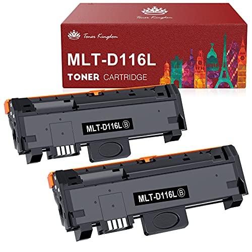Toner Kingdom MLT-D116L Cartuccia Toner Sostituzione Compatibile per Samsung MLT-D116L MLT-D116S per Samsung Xpress M2675F M2675FN M2675 M2835DW M2625D M2825DW M2825ND M2875FW M2875FD M2885FW M2825 M2835 M2625 M2875 (2 Nero)