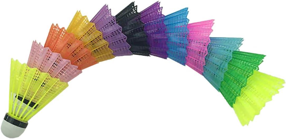 HugeStore Large discharge sale 12 Pcs Plastic Ranking TOP15 Birdie Badminton Shuttlecocks
