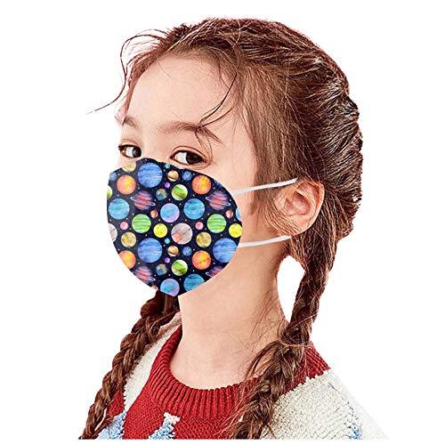 Dibujos Animados Impresión Mascarilla Desechable Máscara Negra Protectora De Cinco Capas De Niños y Niña Industrial Ear Loop Para Actividades Fiesta Al Aire Libre