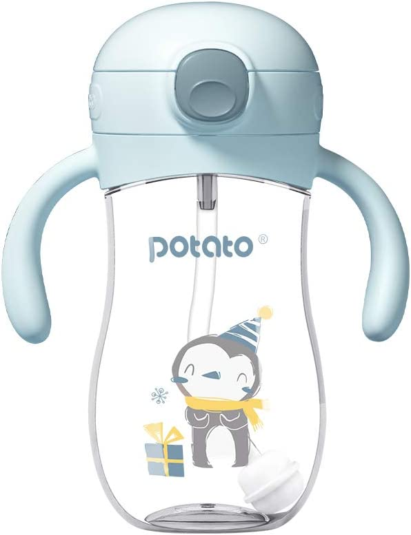 POTATO Straw Cup Water Bottle for Max 52% OFF baby Leak Large-scale sale with Choke