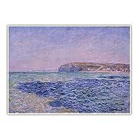 クロード・モネ《海の影。プールヴィルの海の影》キャンバス油絵写真壁の背景装飾家の装飾70x90cm(28x35in)フレームワーク