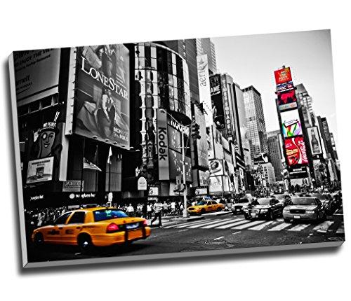 Impresión sobre lienzo en blanco y negro de la ciudad de Nueva York para pared (tamaño A1, 76,2 x 50,8 cm)