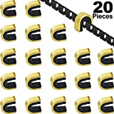Gejoy 20 Pieces Nock Points Archery String Nocking Points Bow String Buckle Clip for Compound and Recurve Bow