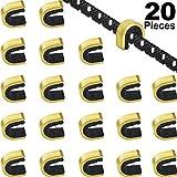 Gejoy 20 Piezas Puntos de Encocar Puntos de Encoque de Cadena de Tiro al Arco Clip de Hebilla de Cuerda de Arco para Arco Compuesto y Recurvo