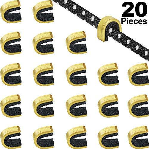 Gejoy 20 Stücke Nock Punkte Bogenschießen Schnur Nock Punkte Bogen Schnur Schnalle Clip für Verbindung und Recurve Bogen