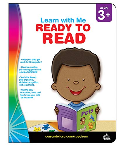Spectrum   Ready to Read Workbook   Preschool, Kindergarten, 80pgs (Learn with Me)