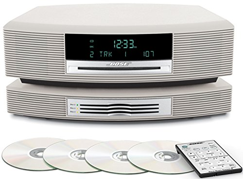 Bose Wave Music System with Multi-CD Changer -- Platinum White, Compatible with Alexa Amazon Echo