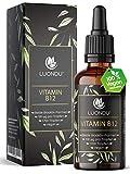 Vitamin B12 Tropfen 100 µg - 50ml Vegan (1700 Tropfen) B12 Vitamin beiden Aktivformen Adenosyl- &...