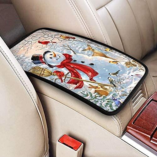 Cubierta de reposabrazos para consola central, diseño de girasol, estilo vintage, para la mayoría de los accesorios de vehículos SUV