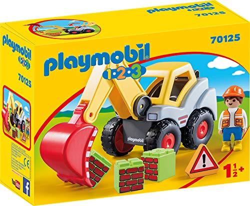 PLAYMOBIL 70125 1.2.3 Pala excavadora multicolor