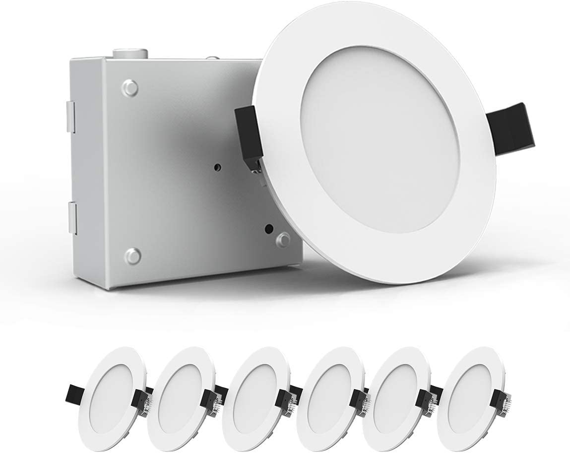 Heybright 6 Pack 4 New product type Inch Recessed Free shipping / New Lighting 80 Driver 9W with Box