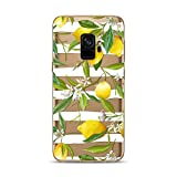 Samsung Galaxy S9 Case,Blingy's New Fruits Style Transparent Clear Soft TPU Protective Rubber Case for Samsung Galaxy S9 (Lemon Flower)