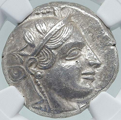 1 GR ATHENS Greece 455BC Ancient AR Greek TETRADRACHM Tetradrachm AU NGC