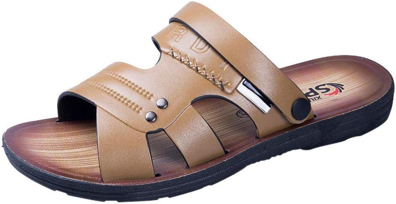 QRETYSG flip flop Summer Men's Sandals Beach shoes Casual shoes Comfortable Non-slip Slippers Open-toe Sandals Zapatillas De Hombre 30