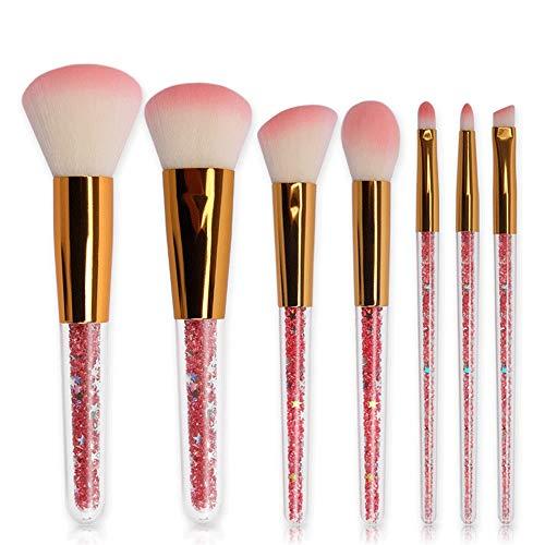 Brosses Pinceaux de maquillage 7 Piece Neon Peach Pinceau De Maquillage Premium Synthétique Fondation Kabuki Synthèse Brosses Pour Poudre Pour Le Visage Maquillage pour les femmes