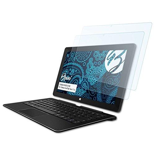 Bruni Schutzfolie kompatibel mit Trekstor SurfTab Twin 11.6 Folie, glasklare Bildschirmschutzfolie (2X)
