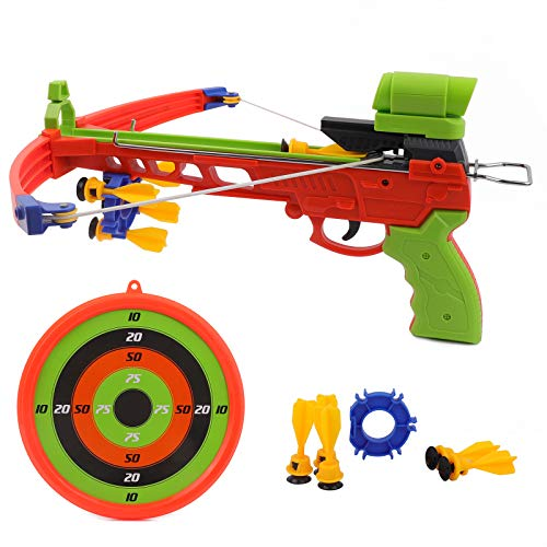 Crossbow Kids Archery Set, Toy Crossbow Set Includes Archery Target and Suction Darts, Kid