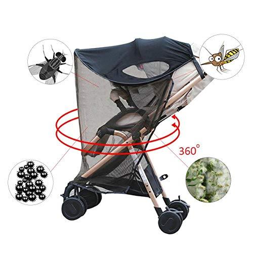 ZLMI Neuer Sonnenschutz/Sonnenschutz für Kinderwagen, Kinderwagen und Autositz, breiter Sonnenschutz, UV-Schutz, universell und einfach zu montierendes 0-3 Jahre altes BB-Auto